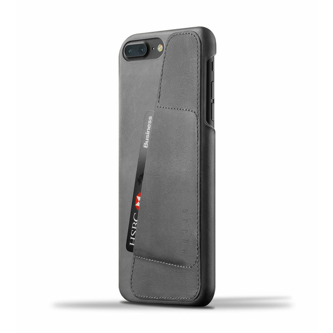 Leather Wallet Case voor iPhone 8 Plus / 7 Plus - Gray