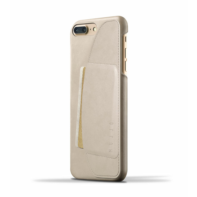Leather Wallet Case voor iPhone 8 Plus / 7 Plus - Champagne