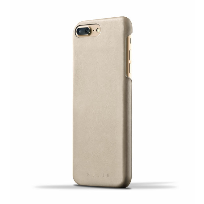 Leather Case voor iPhone 8 Plus / 7 Plus - Champagne