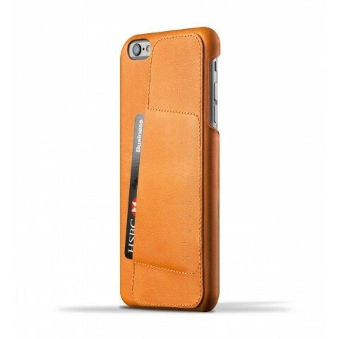 Leather Wallet Case 80° voor iPhone 6(s) Plus - Tan