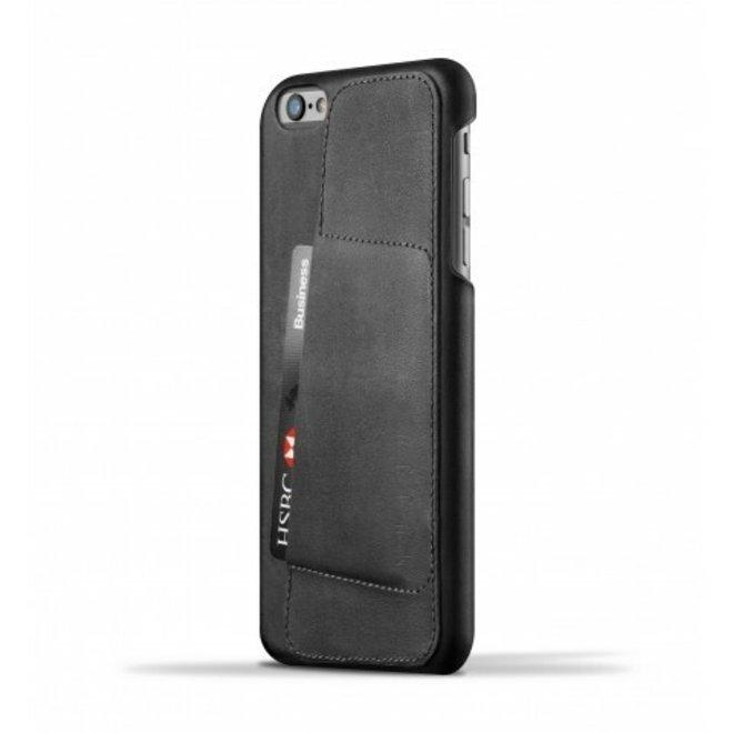 Leather Wallet Case 80° voor iPhone 6(s) Plus - Black