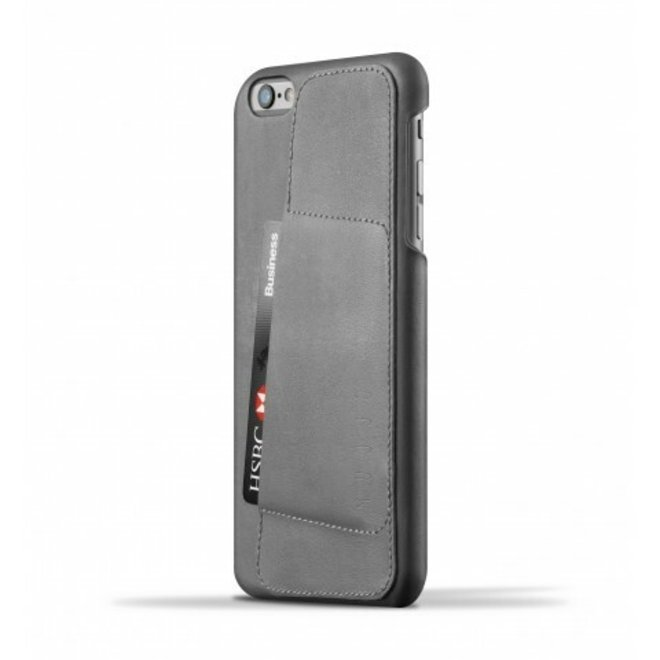 Leather Wallet Case 80° voor iPhone 6(s) Plus - Gray