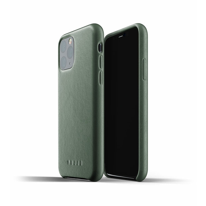 Full Leather Case voor iPhone 11 Pro - Slate Green