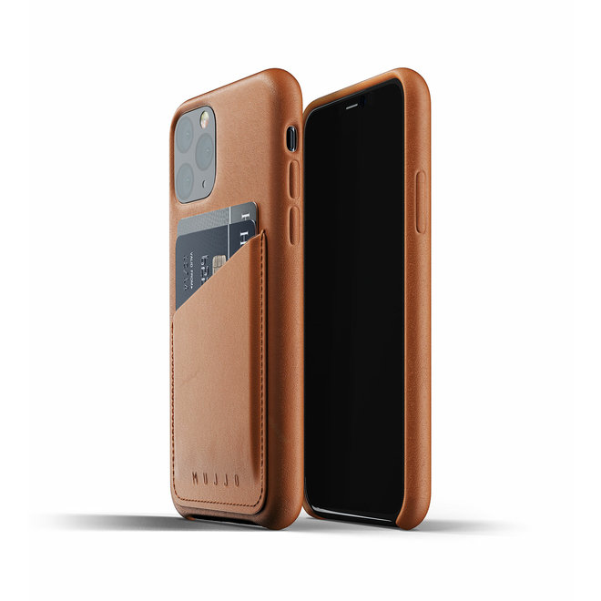 Full Leather Wallet Case voor iPhone 11 Pro - Tan