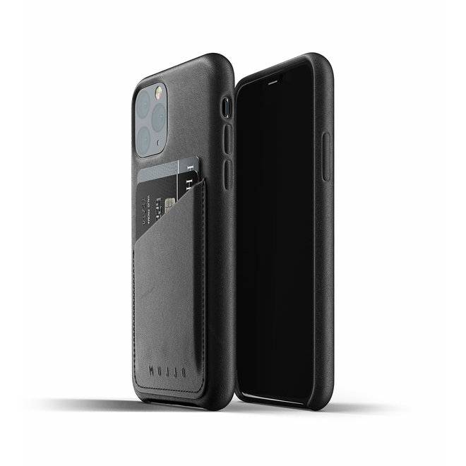 Full Leather Wallet Case voor iPhone 11 Pro - Black