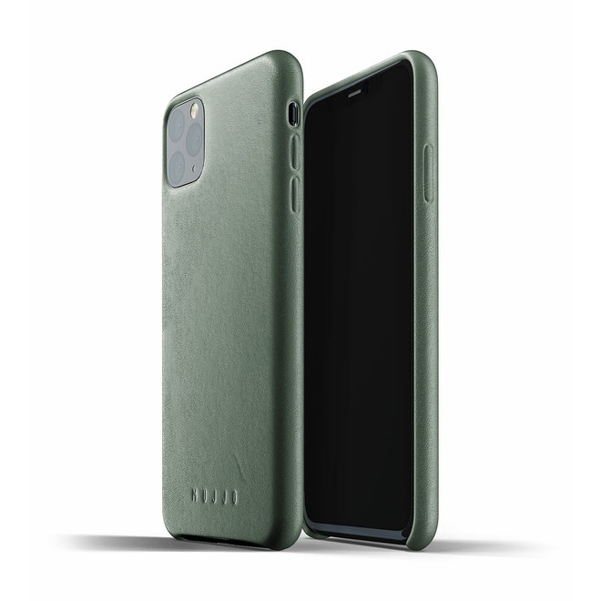 Full Leather Case voor iPhone 11 Pro Max - Slate Green