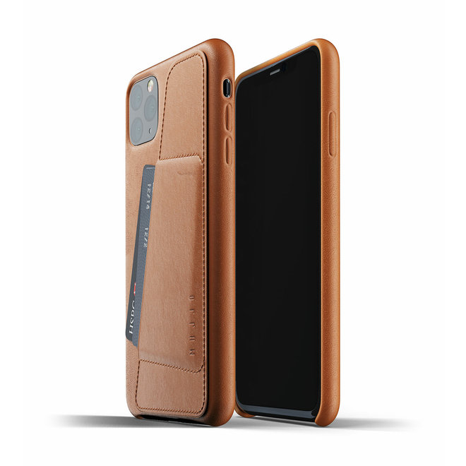 Full Leather Wallet Case voor iPhone 11 Pro Max - Tan