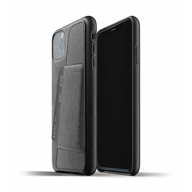 Full Leather Wallet Case voor iPhone 11 Pro Max - Black