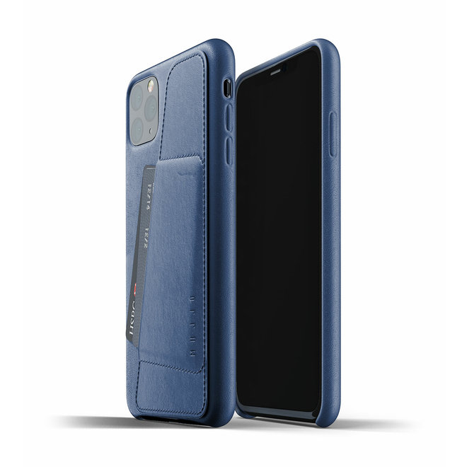 Full Leather Wallet Case voor iPhone 11 Pro Max - Monaco Blue
