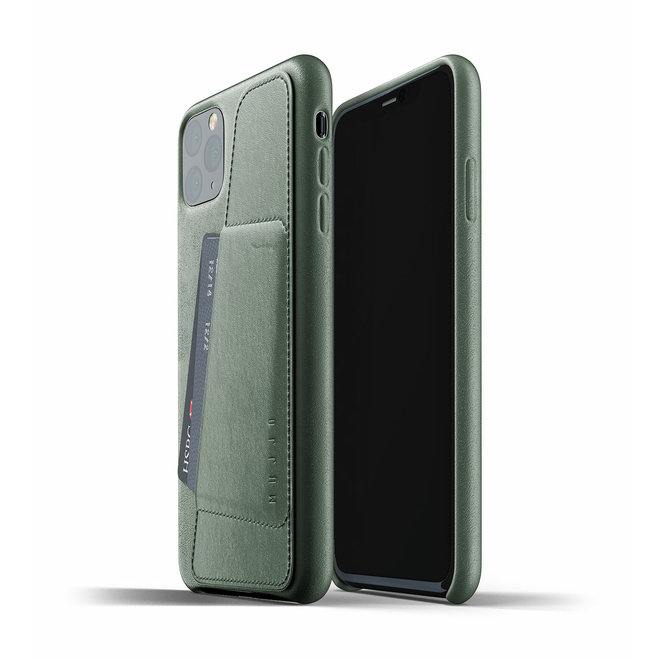 Full Leather Wallet Case voor iPhone 11 Pro Max - Slate Green