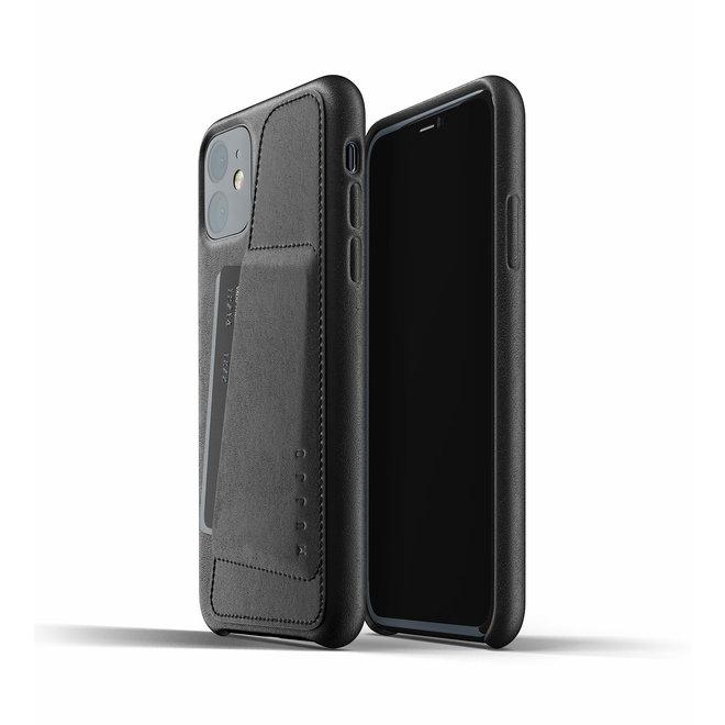 Leren hoesje met portemonnee voor iPhone 11