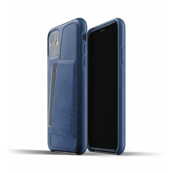 Full Leather Wallet Case voor iPhone 11 - Monaco Blue