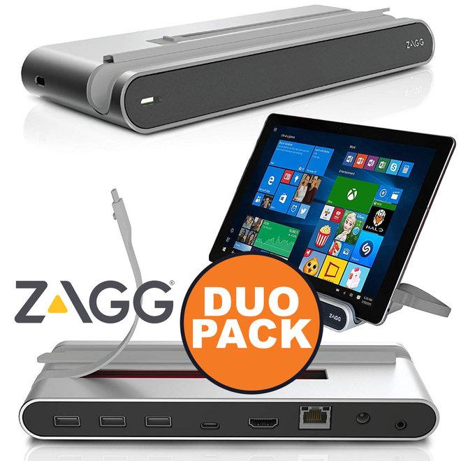 Duopack - Zagg Workstation Desktop Dock USB-C - Maak Van Je Tablet Een Desktop Computer