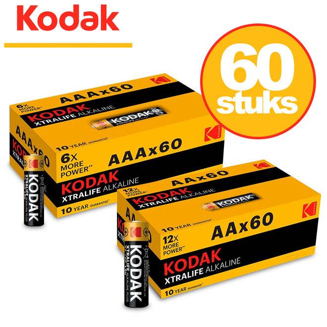 60 Kodak Batterijen - Keuze uit AA of AAA