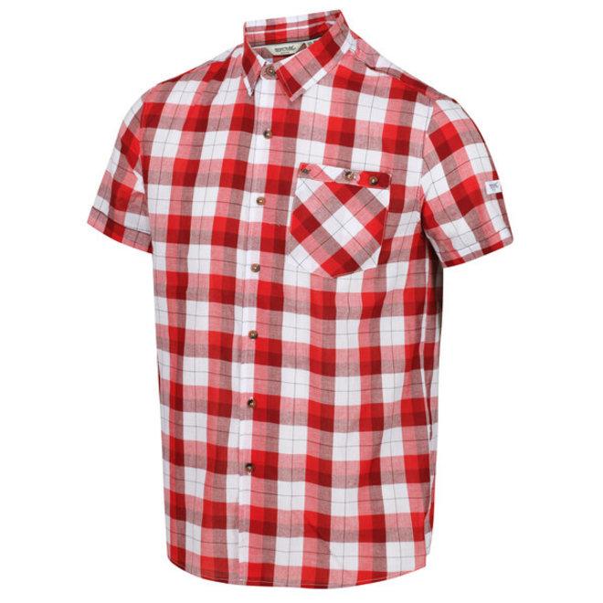 Zomers ruit overhemd van organisch katoen van Regatta