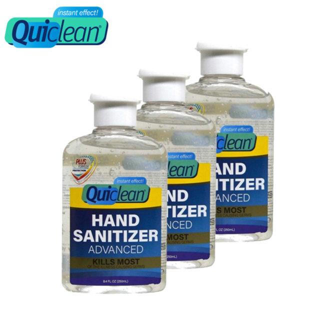 3-pack Quiclean desinfecterende handgel