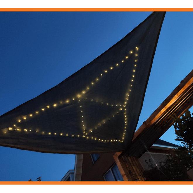 Schaduwdoek met Solar LED-lichtjes