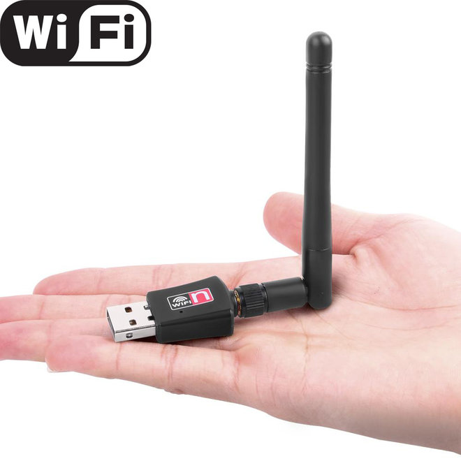 WiFi USB Adapter met Antenne - 300MBps