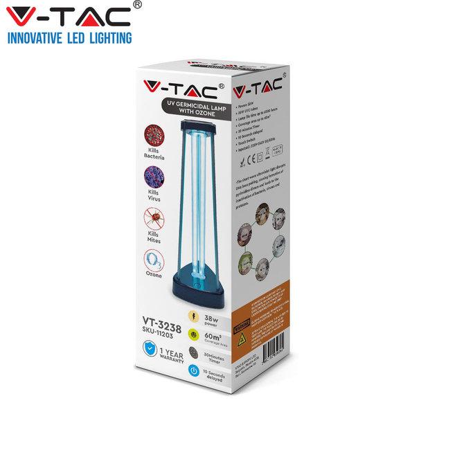 V-tac desinfecterende UVC Lamp met Ozon