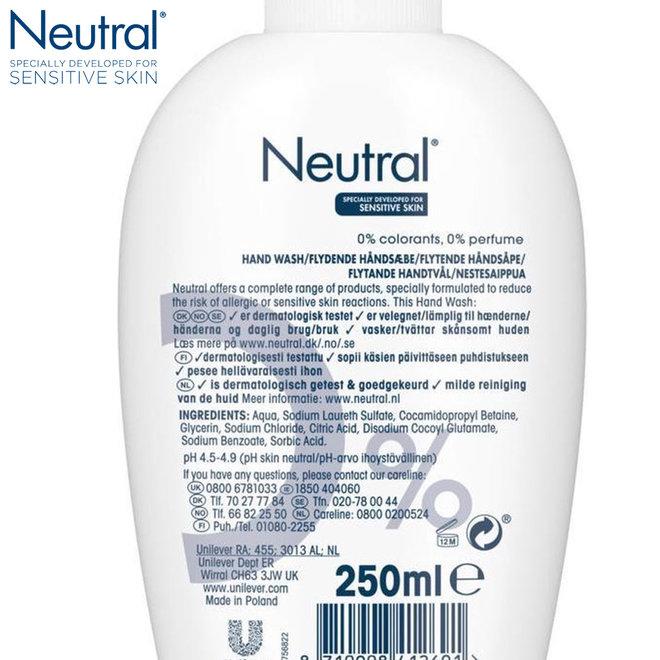 Neutral Perfumvrije Handzeep Sensitive Skin - 6 x 250 ml