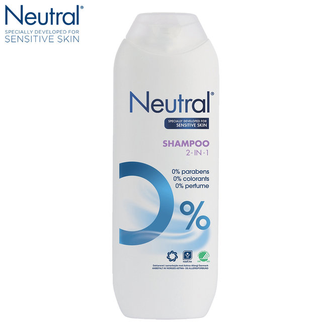 Neutral Parfumvrije 2-in-1 Shampoo - 8 x 250 ml