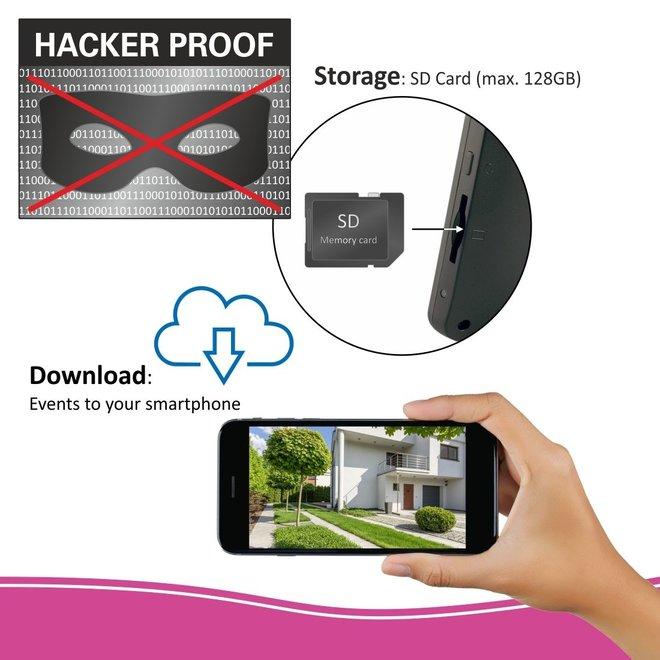 """ELRO Draadloze HD Beveiligingscamera Set - 7"""" Monitor +  extra HD beveiligingscamera"""