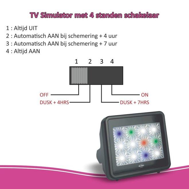 ELRO TV Simulator Anti-inbraak en met LED-verlichting