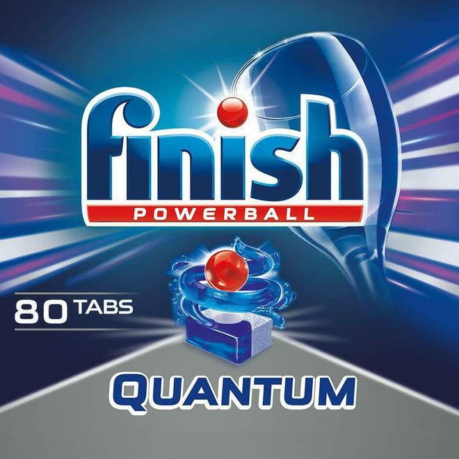 80 afwastabletten Finish Quantum Powerball