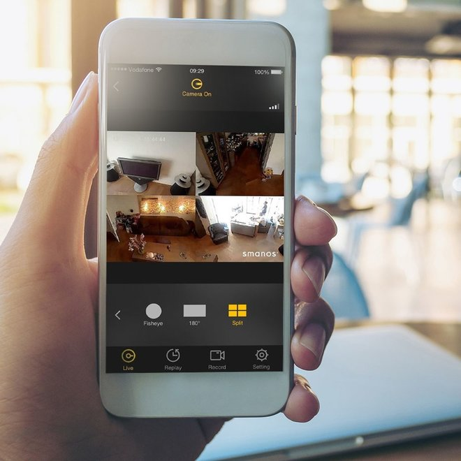 IP-camera met fish-eye lens - Monitor uw huis, waar u ook bent!