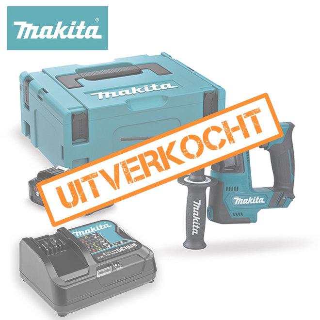 Makita HR140DSMJ 12V boorhamer in Mbox met twee 4Ah accu's en snellader