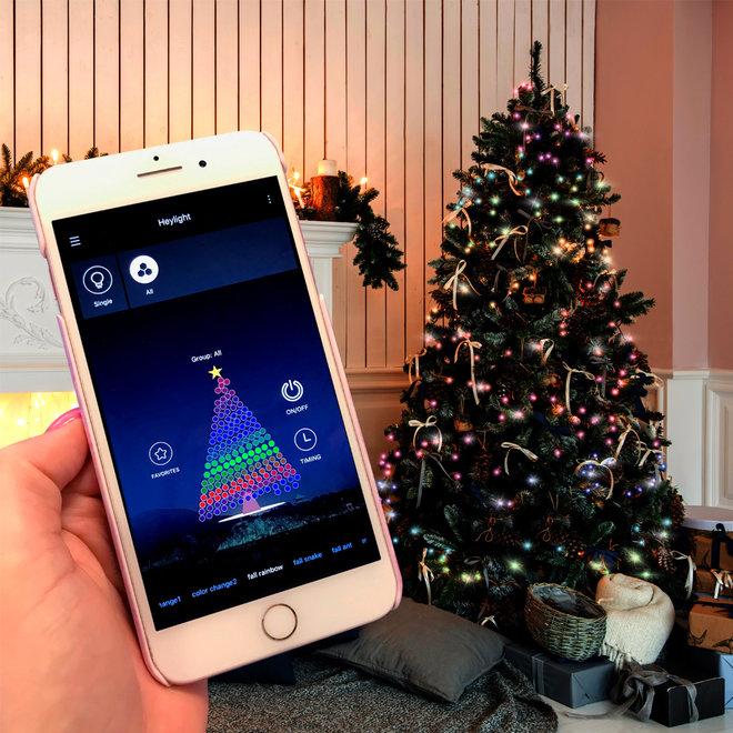 Kerstboom lichten met app