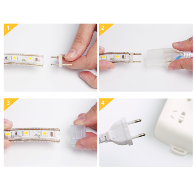 LED Lichtslang 50m -- warm wit of RGB | Kan worden geknipt/verlengd!