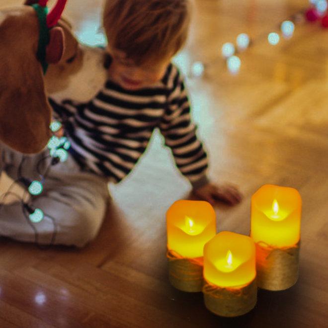 LED Kaarsenset -- 3 Kaarsen | Sfeervol | Kerst | Cadeautip