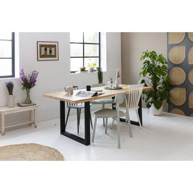 Ambachtelijke Eikenhouten tafels - Stel zelf samen   U- of X-poten   Salon- of Eettafel