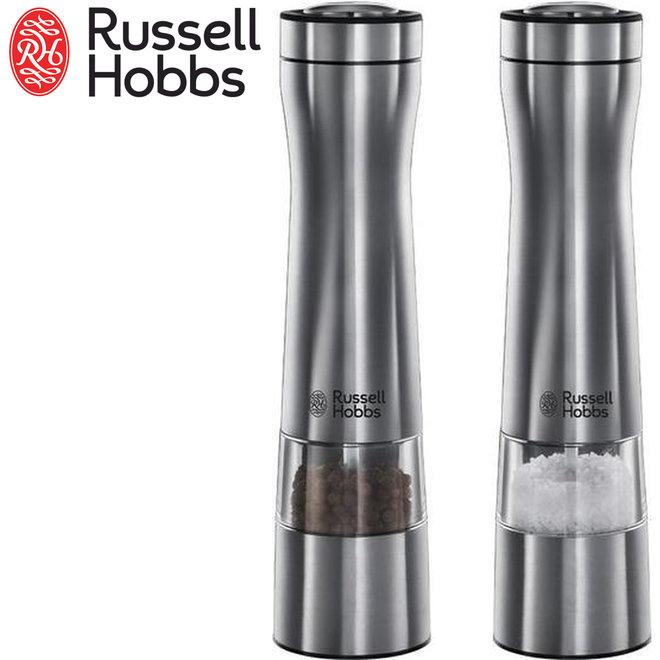 Russell Hobbs Peper- & Zoutmolen -- Nergens Goedkoper   Elektronisch   Instelbare Vermalingsgraad