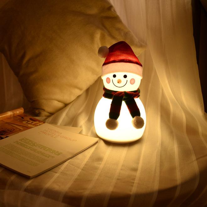 LED-sneeuwpop met warm wit en RGB-kleuren