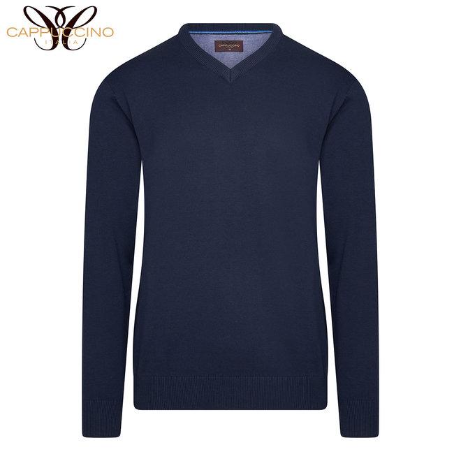 Luxe Cappuccino pullover met V-hals - Comfortabel | Ademend | Hoge kwaliteit