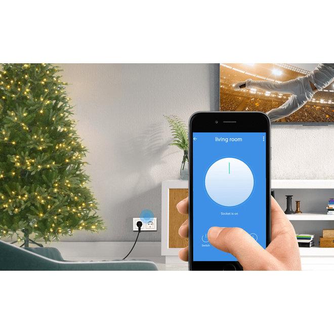 WOOX Smart Stekkerdoos - Bedien met App | Maakt al uw kerstverlichting smart!