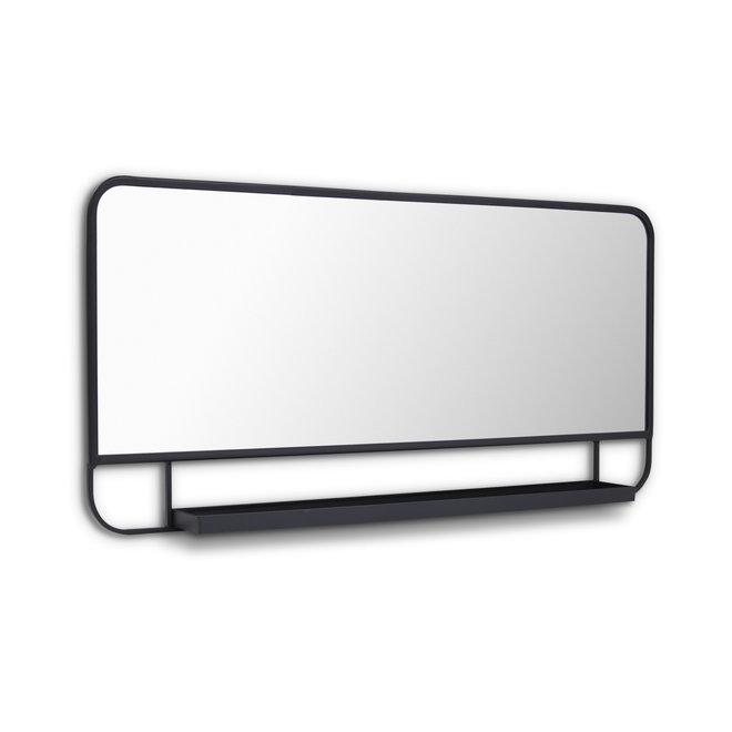 Design spiegel met plankje