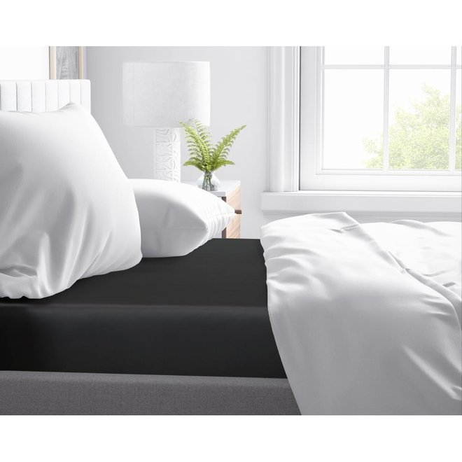 Fitted katoen satijn hoeslaken 30cm - 100% katoen-satijn | Mooie uitstraling | Goed slaapcomfort | Geen vervelende ribbels