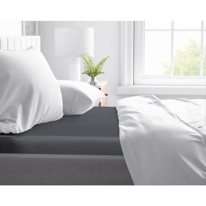 Fitted katoen satijn hoeslaken 15cm (voor topdekmatrassen) - 100% katoen-satijn | Mooie uitstraling | Goed slaapcomfort | Geen vervelende ribbels
