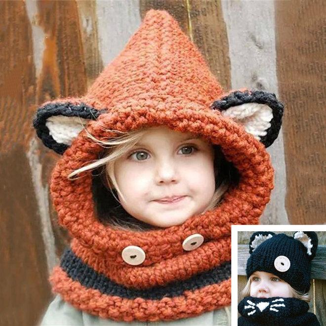 Kindermuts & -Sjaal - Unisex | Leuk design | Heerlijk comfy!