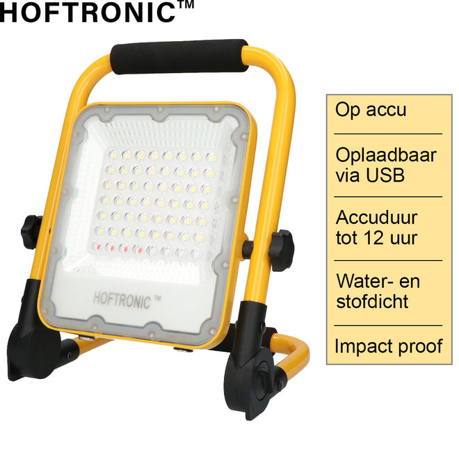 LED Bouwlamp op Accu
