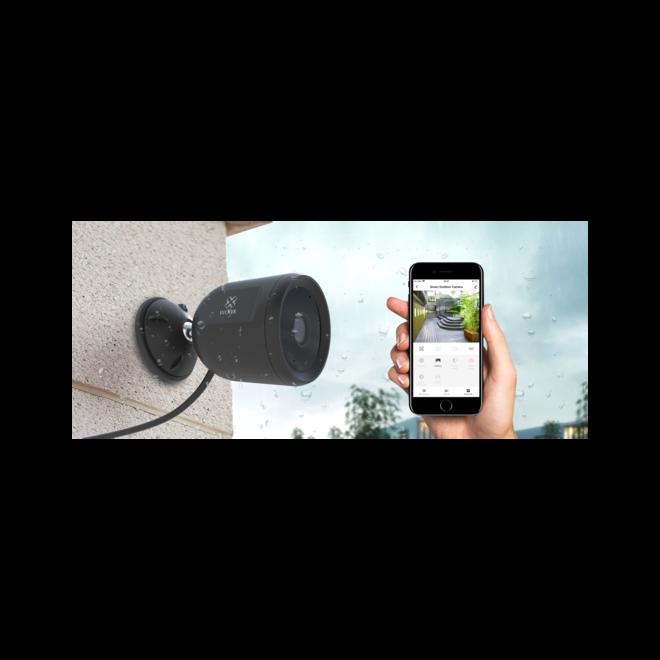 WOOX Draadloze Full HD Outdoor Camera - 2 modellen | Keuze uit draadloos en bedraad | Werkt met je smartphone | Bewegings-/Geluidsdetectie | Nachtivisie | Full HD