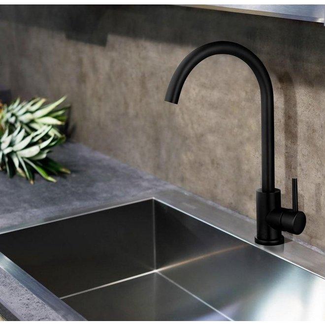 RVS Keukenkraan - In kleuren RVS en Zwart | Ronde en rechte hals
