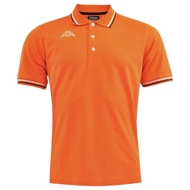 Kappa Poloshirt | Oranje - witte/zwarte streep