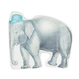 Sass & Belle RJB Stone kussen olifant met hoed