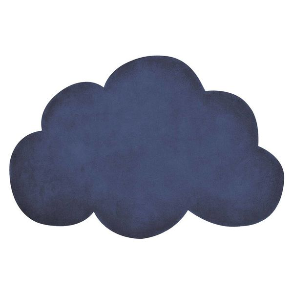 Lilipinso Lilipinso kindervloerkleed wolk donkerblauw true navy
