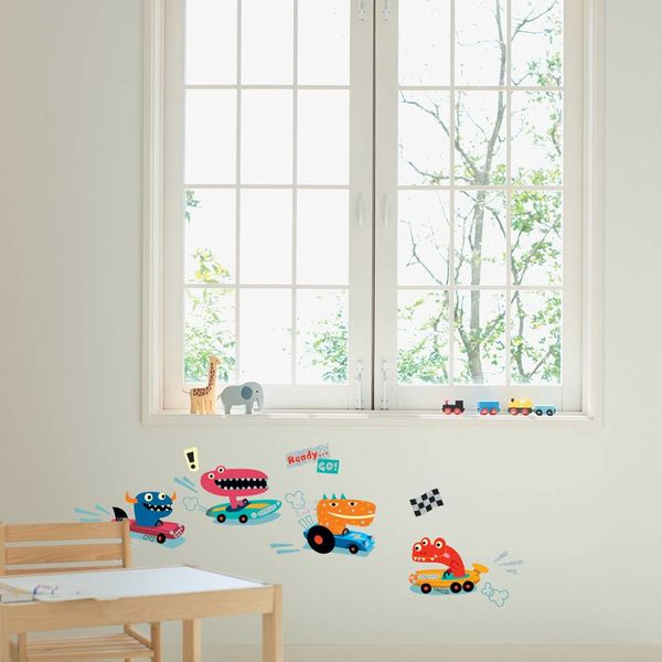 Nouvelles Images Nouvelles Images muurstickers  kinderkamer ralley monsters