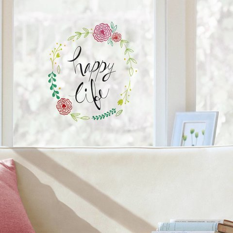 Nouvelles Images raamsticker Happy Life